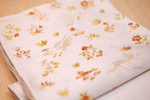 白地鳳凰唐花刺繍袋帯2