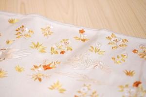 白地鳳凰唐花刺繍袋帯3